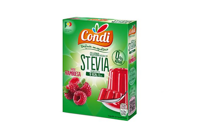 Gelatina Stevia Framboesa Condi 30g
