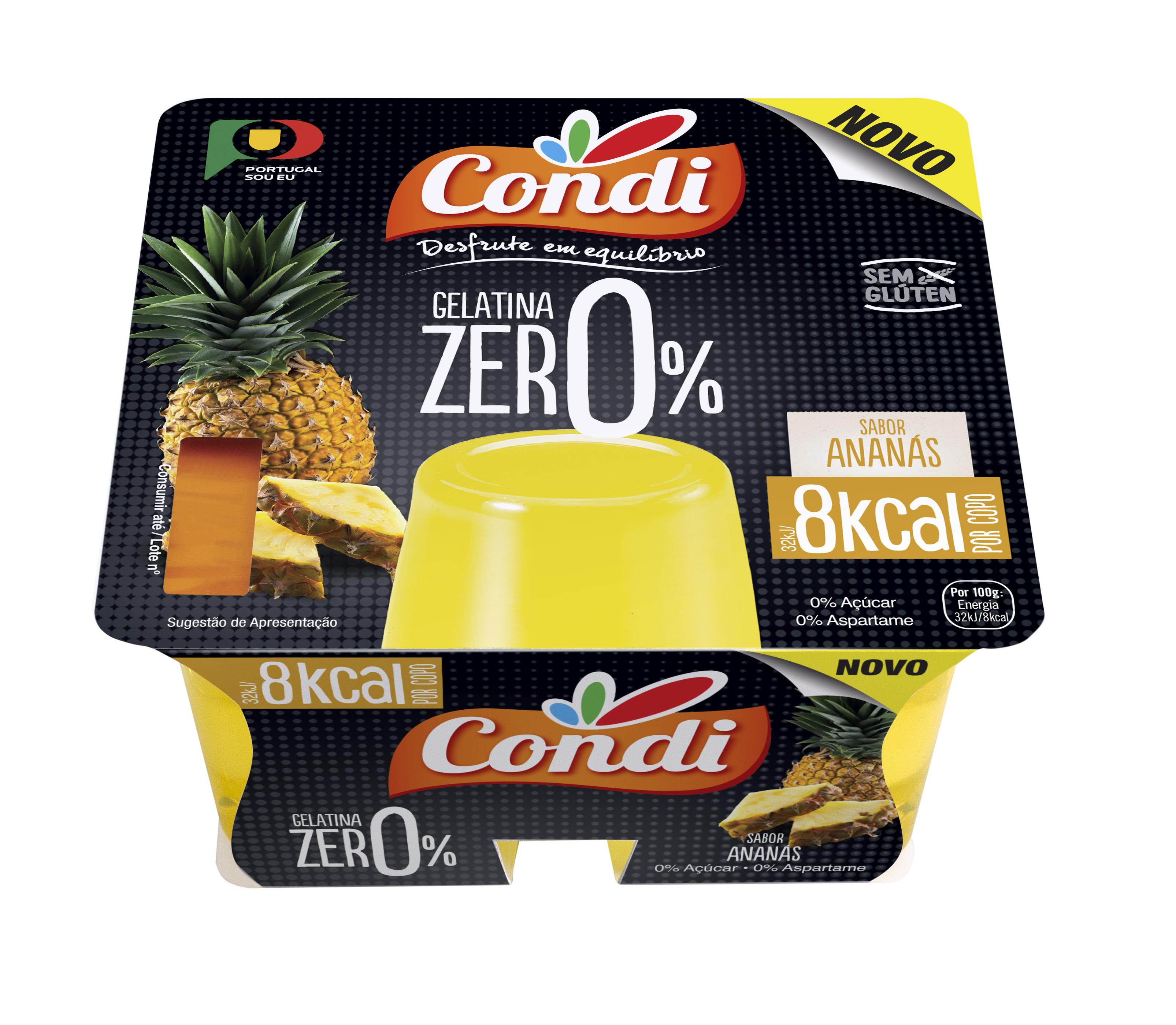 Gelatina Zero Pronta a Comer (Ananás) - PVP 1.94€