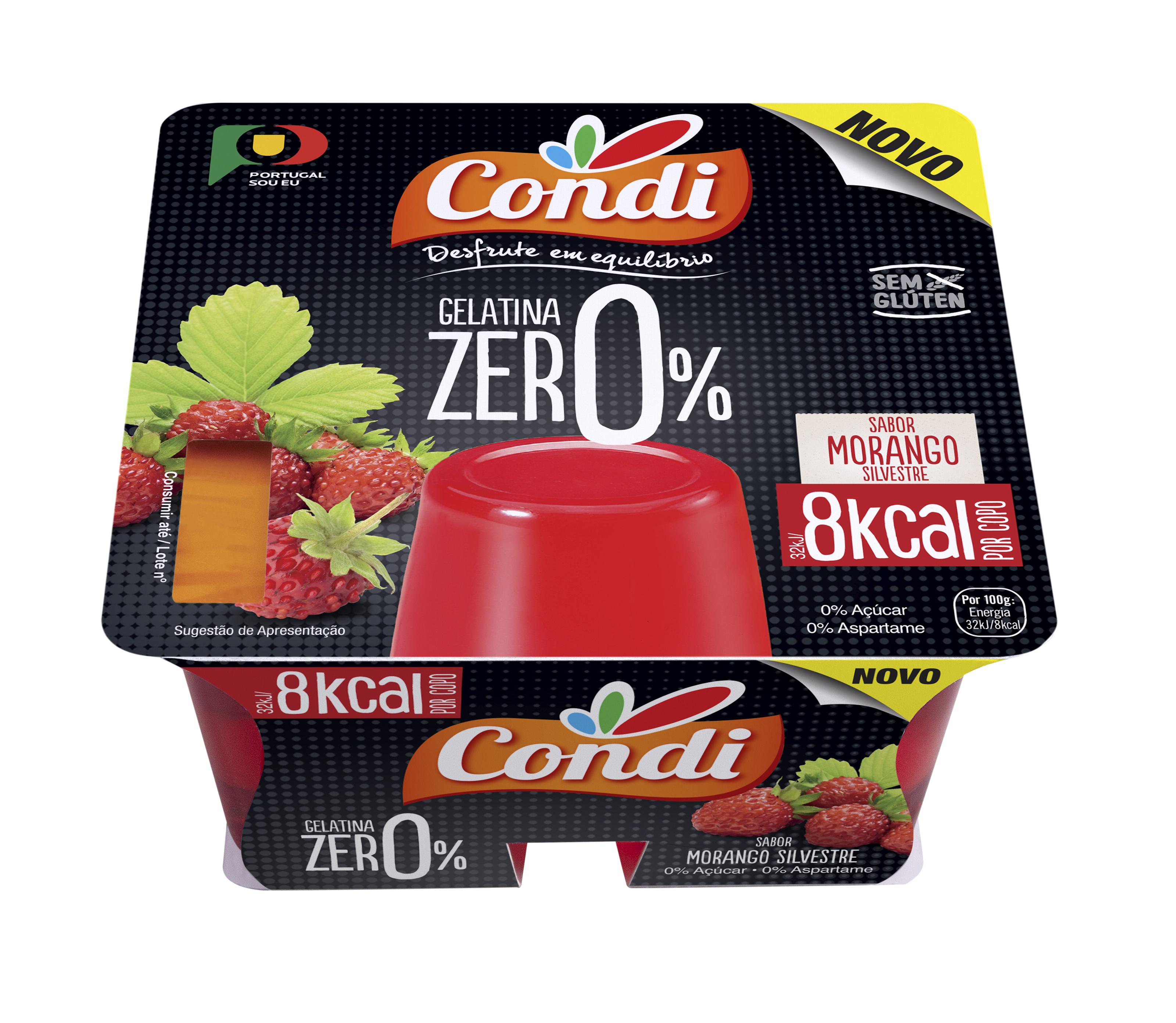 Gelatina Zero Morango Pronta a Comer (Morango) - PVP 1.94€
