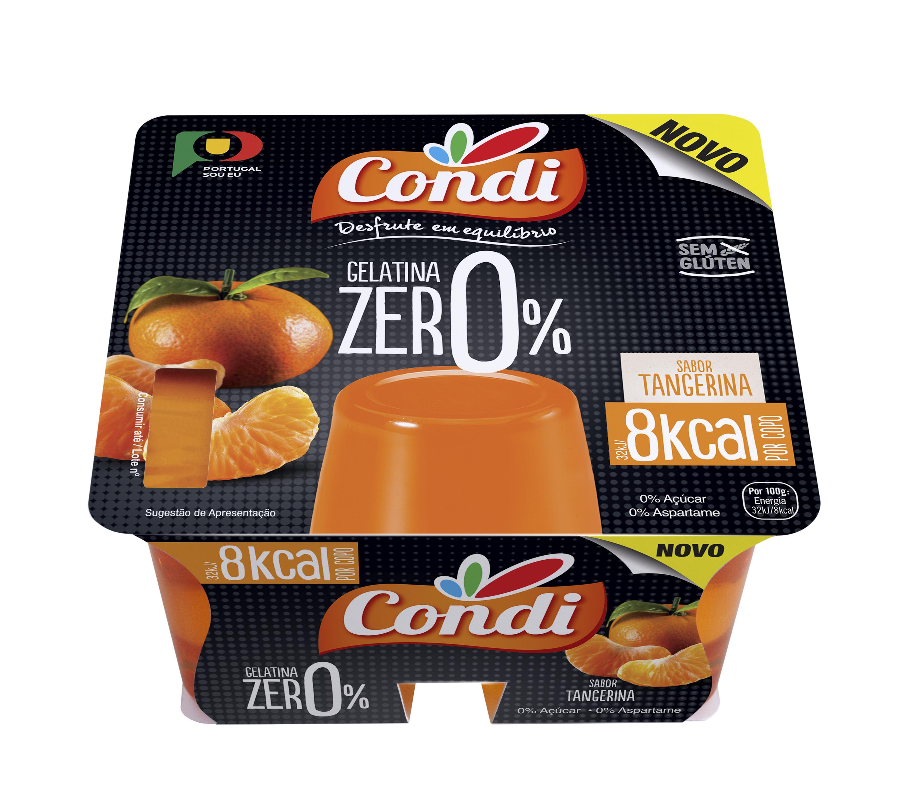Gelatina Zero Pronta a Comer (Tangerina) - PVP 1.94€